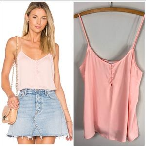 L' Academie Revolve Pink Cami Button Front  Tank